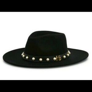 Henri Bendel Cashmere Pearl brim Hat